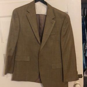 Wool brown suit jacket
